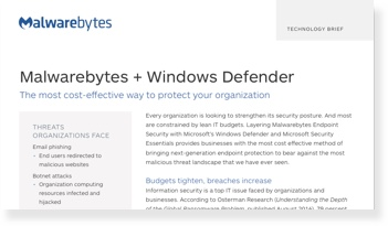 Erweitert Microsoft Windows Defender und Security Essentials