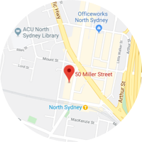 Map location of Sydney, Australia office